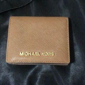 Michael Kors brown bifold wallet
